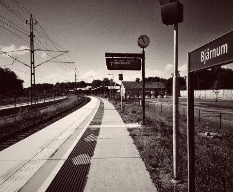 tågstationen i Bjärnum